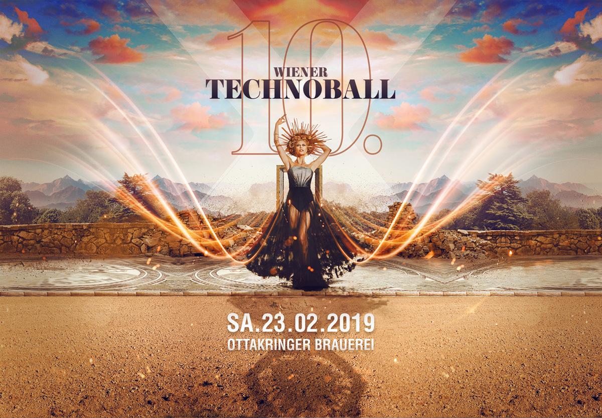 Ankündigung Technoball 2019 Werbung