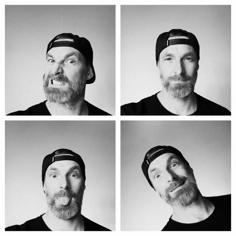 Portrait Oliver Topf Grimassen