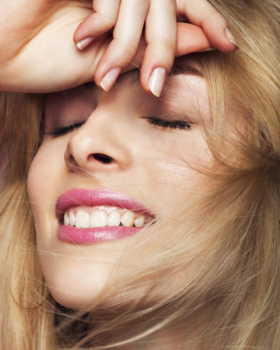 Blondes Model Nahaufnahme Gesicht